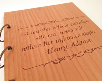 Custom Wooden Book - Choose Your Quote or Wording