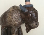 Buffalo Wedding cake topper  for your Rustic Wedding Anniversary or Special Occasion Made to Order