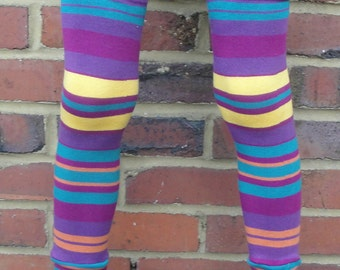 Stripe Baby and Kid Leggings - Leg/Arm Warmers for Infant, Toddler, and Tween - Birthday or Shower Gift for Boy or Girl - Fun and Functional