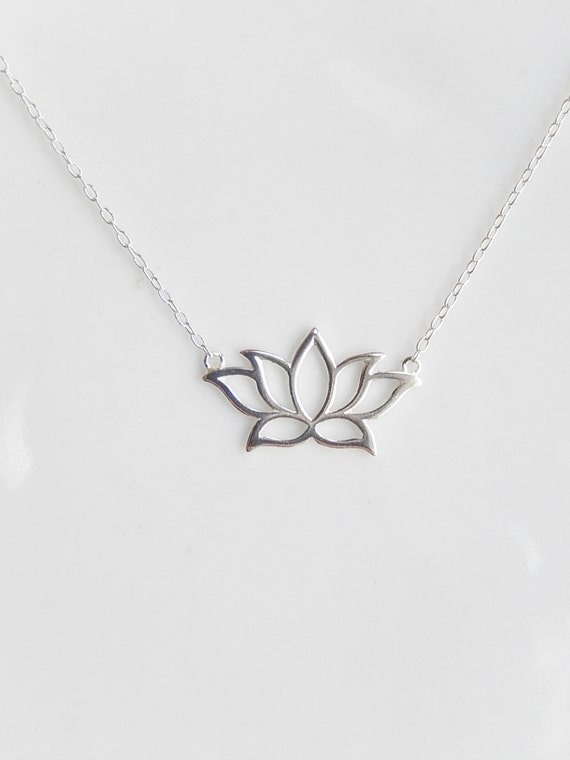Sterling Silver Lotus Necklaceyoga Necklace Lotus Flower