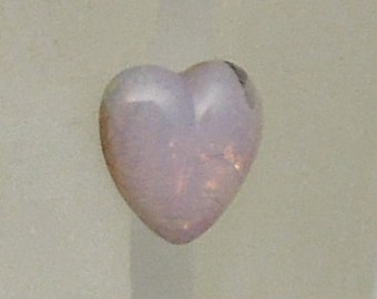 10mmx10mm Heart shaped Pink Opal Stones (2)