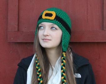 St. Patrick's Day Leprechaun Ear Flap Hat - All Sizes