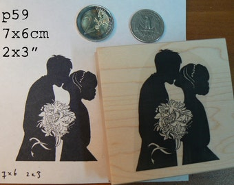 P59 The wedding kiss rubber stamp
