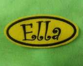 Felt oval name patch personalize it