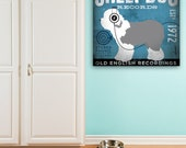 Old English Sheepdog Records music album art graphic art on gallery wrapped canvas gemini studio
