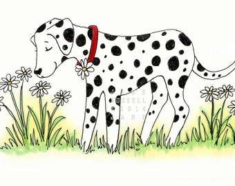 Daisy Dalmation Illustration Children's 8x10 Art Print