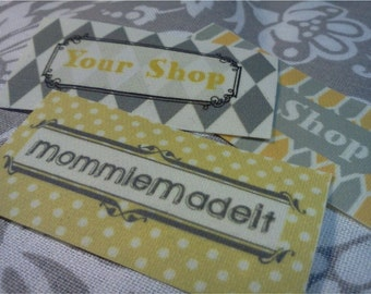 160 Fabric Labels - Sew-On Fabric Labels - Free Customization Using Any Premade Design Shown OR Your Print-Ready Design or Logo