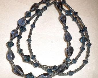 Montana Blue Swarovski Three Strand Bracelet
