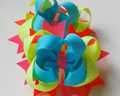 Neon Lights Set of 2 Boutique Hair Bows