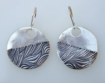 Seaweed Serenade fine silver earrings