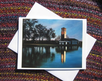Blank Greeting Card of The Miller Bell Tower, Chautauqua Institution