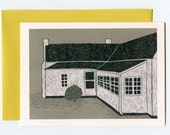 Folk Art Nana's House in North Carolina Illustrated Greeting Card