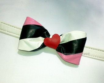 Girl Pride Leather Bow Tie Bowtie (JWL 1114)
