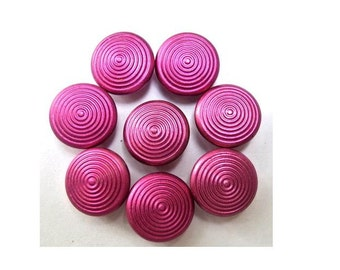 15 Antique vintage pink metal buttons, for buttons jewelry, sewing, knitting, 13mm