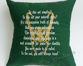 Loki of Asguard Embroidered Pillow Case Cover