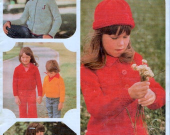 70s Knitting Patterns in DK 8ply Hand Knitting Toddlers and Children