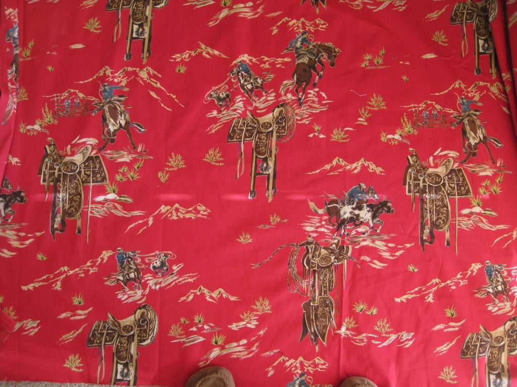 western home decor fabric western cowboy decorator cotton fabric 2 yards 11821