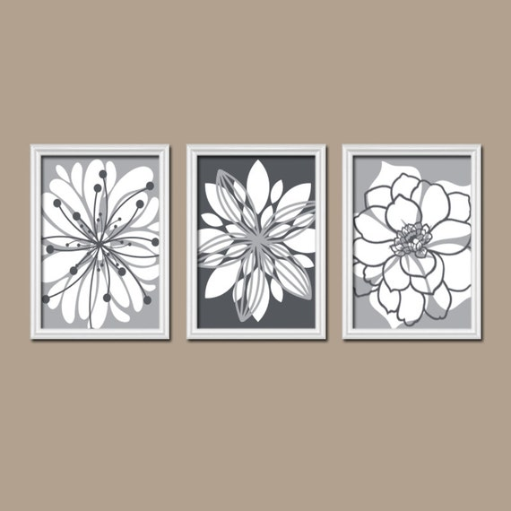 charcoal gray wall art canvas or prints white tones by. Black Bedroom Furniture Sets. Home Design Ideas