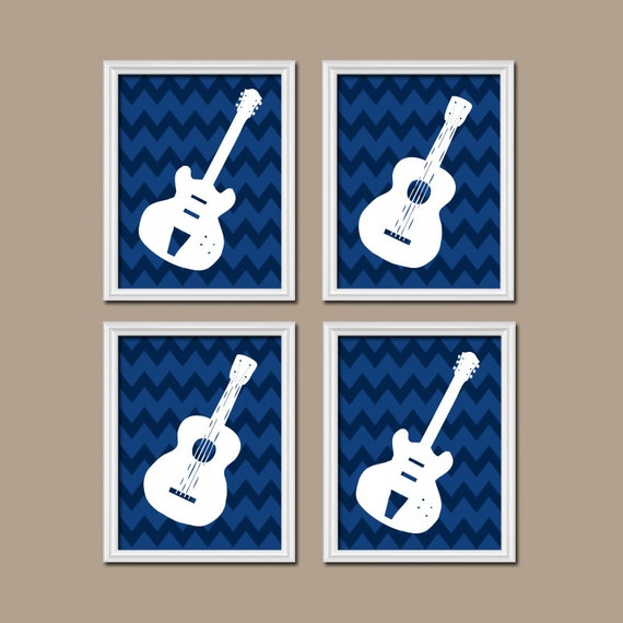 Items Similar To Guitar Wall Art Music Theme Nursery Boy