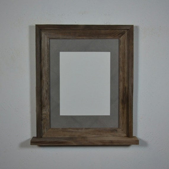 11x14 Wood Frame With Mat For 8x10 And A Small Shelf