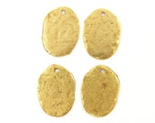 Rustic Gold Charms, Gold Coin Charms, Boho Tribal Pendant Jewelry Supplies  Q2-5 4