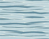 BOLT END Birch Feather River View Organic Cotton, Water Ocean Fabric