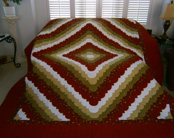 Amish Made by Lillian - Hand Made Ocean Wave Quilt  - Custom Made is also Available