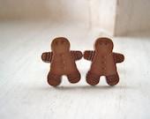 Christmas gingerbread men man  earrings