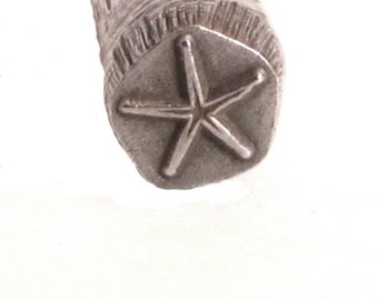 Star Fish Design Stamp for Silver stamping charm making 5.5mm