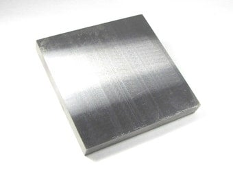 6 x 6 x .75 inch Huge polished steel bench block for stamping and forging metal work