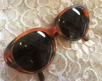Pair of Vintage Mod Orange Sunglasses (May Be Prescription)