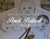 Custom Pencil Portrait SALE