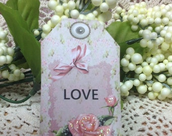 Set Of 6 Love  Gift Tags -