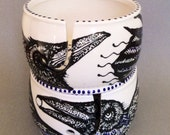 Taos Raven Yarn Bowl with RavenMoon & RavenEye Original Designs