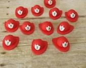 12 Fire Helmet Fondant Cupcake Toppers