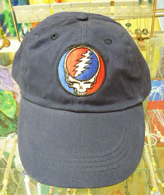 Grateful Dead SYF Steal Your Face Navy Hat Baseball Cap Hat