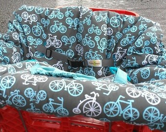 Bicycles Reversible Shopping Cart Cover - Fits ALL Carts
