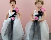 Lucille Ball and Vivian Vance Doll Set Miniatures Vintage 50s Television