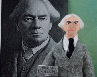 Jerome K. Jerome Author Doll Art Miniature