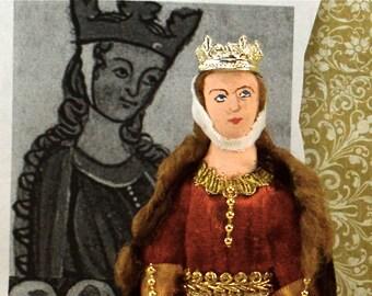 Eleanor of Aquitaine Doll Miniature Medieval Queen