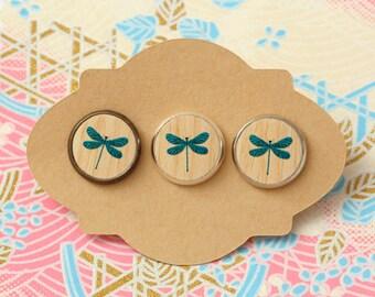10 pcs handmade dragonfly - earrings, pendant, ring - 12mm (PW-0572)