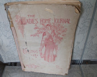 15 Pages Victorian 1891 Ads, Fashions, Hats, Articles, Ephemera Mixed Media Scrapbooking Antique LHJ