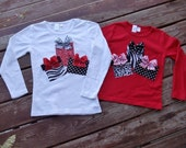 """Girls Christmas  """"MODERN HOLIDAYS"""" presents gift boxes tee shirt available in size 6-12-18-24 mth. 2T, 3/ 4, 5/ 6, 7/8"""