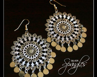 Silver Spangles - Earrings by Christina Stoppa