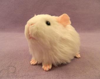 Little Guinea Pig Plushie - White