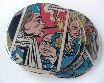 Boomerang Coasters // Recycled Vintage Comic // Set of 4 // Flash Villain