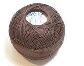 Lizbeth Size 20 Cotton Tatting Thread Dark Fudge Brown Color number 697, Brown Crochet Thread