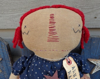 Primitive Cloth Doll Anna Mae