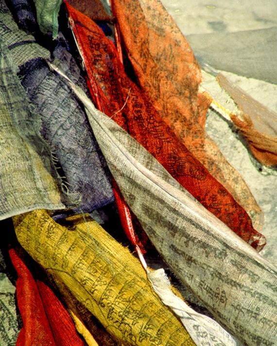 Meditation room art, travel photo, silkscreen,yoga, Nepal, prayer flags, hand woven, yoga space, colorful flags, Tibetan buddhism, himalayas