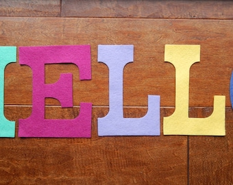 "Wool Felt Letters - 5"" Tall - Use for Banners - Pick your Letters and Colors"